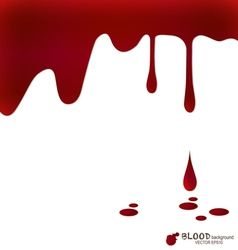 Blood dripping blood background vector image vector image