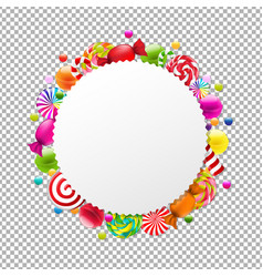 Candy shop banner vector