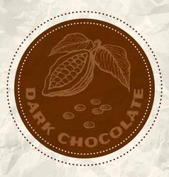 dark chocolate vintage paper vector image