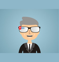 men in smart glasses vector image