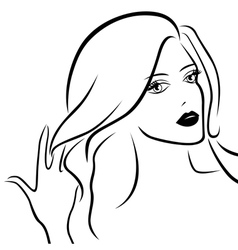 Abstract young beautiful women vector image
