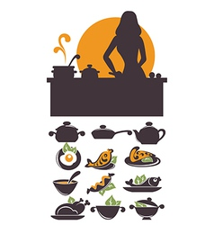 cooking time vector image vector image