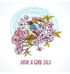 Good day wishing card vector image