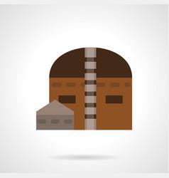 hangar building flat color icon vector image