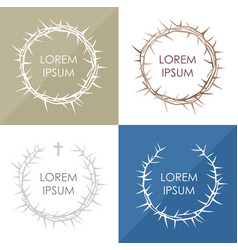 set the crown of thorns vector image vector image