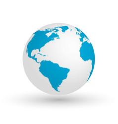 3d earth globe eps10 of vector image vector image