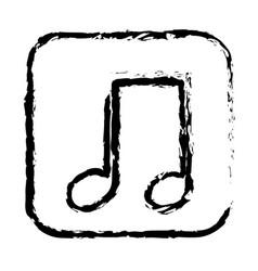 contour symbol play music icon vector image vector image