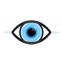 cyber eye vector image