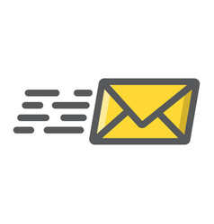 email marketing filled outline icon seo vector image