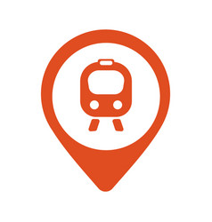 map icon with train trolley - vector image vector image