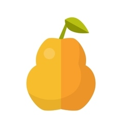 Pear In Flat Style Design vector image vector image