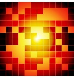 Red and orange squares abstract background vector image vector image
