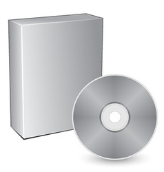 3d box with compact disc vector image