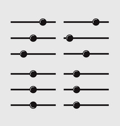 adjustment icon balance button multimedia vector image