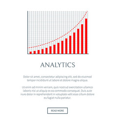analytics business chart page vector image
