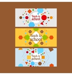 Back to school horizontal banners vector
