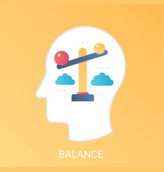 balance concept modern gradient flat style vector image