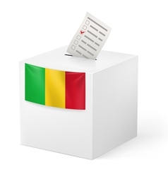 Ballot box with voting paper Mali vector