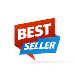 best seller sticker isolated design element vector image