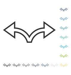 bifurcation arrow left right icon vector image