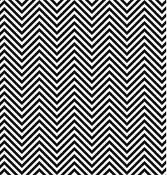 Black and white seamless zig zag line pattern vector image