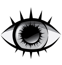 Black and white The human eye vector