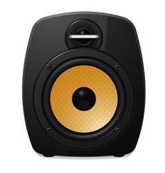 black sound speaker on white background vector image