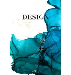 Blue navy gold luxury design watercolor dark vector