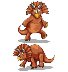 Brown rubeosaurus in two different poses vector