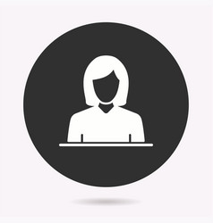 business woman - icon vector image