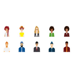 Colorful people avatar collection vector