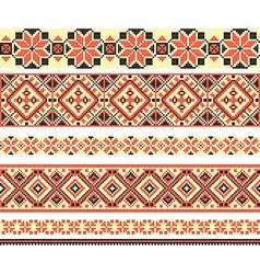 Cross-stitch ethnic ukraine pattern vector