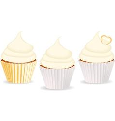Cupcakes vanilla vector
