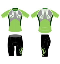 Cycling vest greenish style vector image