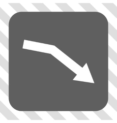 Fail Trend Rounded Square Button vector image
