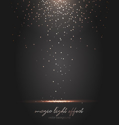 Falling gold particles golden rain background vector