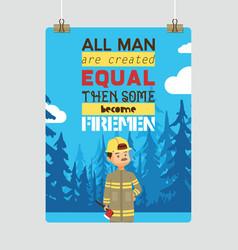 firefighter cartoon fireman character vector image