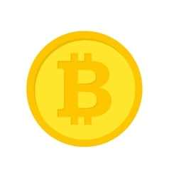 flat bitcoins icon vector image