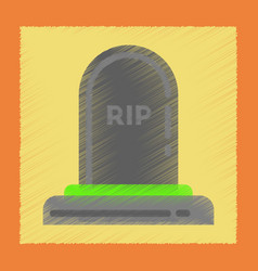 flat shading style icons halloween grave vector image
