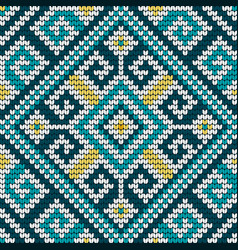 Folk traditional knitting pattern vector
