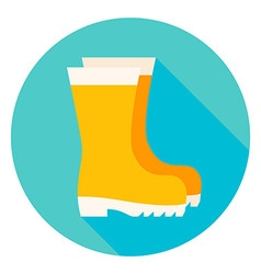 Garden Boots Circle Icon vector image