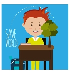 Go green and ecology vector image
