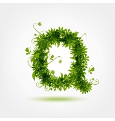 Green eco letter Q for your design vector