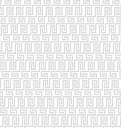 Grey geometric maze seamless pattern vector image