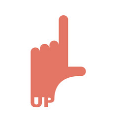 hand pointer up direction of route finger isolated vector image