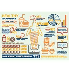 Healthy Infographics vector image