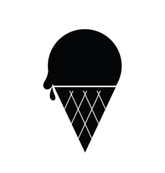 Icecream Icon Black vector