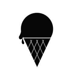 Icecream Icon Black vector image