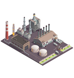 industrial factory site composition vector image