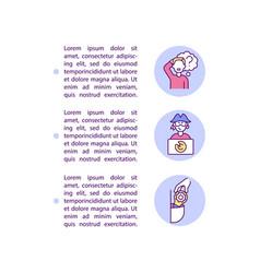 Innocent vs wilful infringement concept line vector